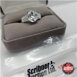 Ring - Size 10: Sim Diamond - Stainless Steel