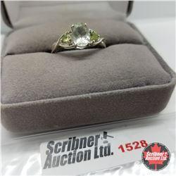 Ring - Size 9: Prasiolite - 14k Overlay - Peridot - Sterling Silver