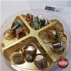 Jewellery Grouping: 15 Rings (Asst Size) Variety