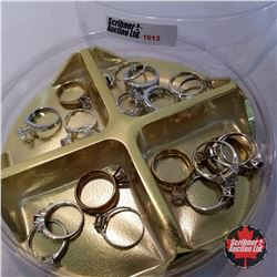 Jewellery Grouping:  20 Rings (Asst Size) Simplistic