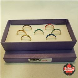 Jewellery Grouping: 7 Rings - Size 7: Crystal Eternity Bands