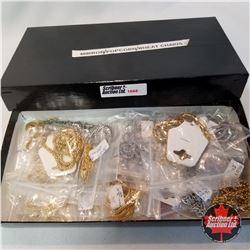 Jewellery Grouping: 29 Mirror/Popcorn/Wheat Chains (Asst Length)