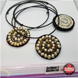 Jewellery Grouping:  3 Seed Pearl Chokers