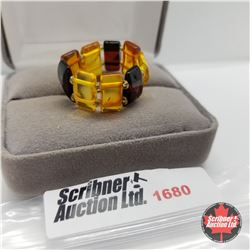 Ring - Baltic Amber; Expandable