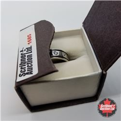 Ring - Size 13: Simulated Diamond Stainless (w/Box)