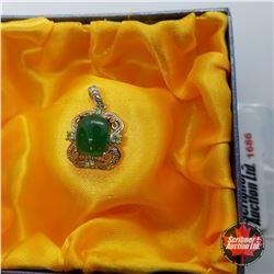 Pendant: Green Chalcedony & Peridot - Sterling Silver