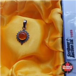 Pendant: Baltic Amber - Sterling Silver