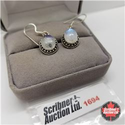 Earrings - Moonstone - Sterling Silver