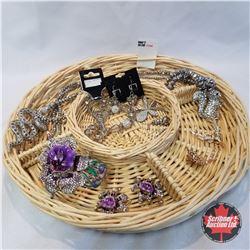Jewellery Group: 1 Bracelet 1 Brooch; 3 Necklaces; 3 Pair Earrings
