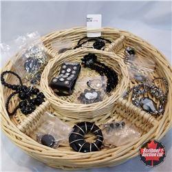 Jewellery Group: 1 Ring (Size 10); 7 Necklaces; 1 Bracelet; 3 Pair Earrings; 4 Pendants; 1 Watch
