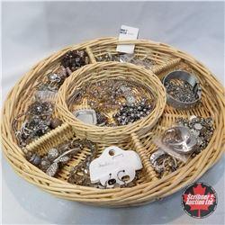 Jewellery Group: 8 Pair Earrings; 1 Ring (size 9); 1 bracelet; 13