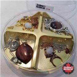 Jewellery Group: 7 Necklaces; 2 Pendants; 2 Rings; 1 Pair Earrings