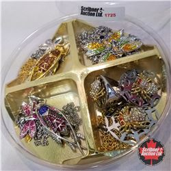 Jewellery Group:  Bug Theme: 7 Necklaces; 1 Pair Earrings; 1 Ring (Size 8)