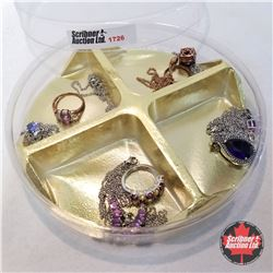 Jewellery Group: Purple Theme: 3 Rings (Asst Size); 8 Necklaces