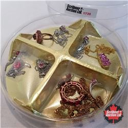 Jewellery Group: Pink Theme: 8 Necklaces; 2 Rings (Asst Size)