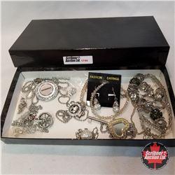 Jewellery Group: 10 Necklaces; 4 Pair Earrings; 2 Pendants;