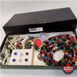 Jewellery Group: 4 Necklaces; 5 Bracelets; 3 Pair Earrings; 1 Ring (Size 7)