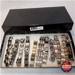 Jewellery Group: 11 Mens Bracelets - Stainless Steel