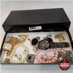 Jewellery Group: @ Bracelets; 2 Pair Earrings; 3 Pendants; 9 Necklaces; 1 Watch