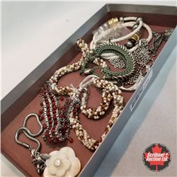 Jewellery Group: 4 Necklaces; 4 Bracelets; 1 Pair Earrings