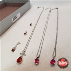 Jewellery Group: 6 Ruby Pendants and Necklaces