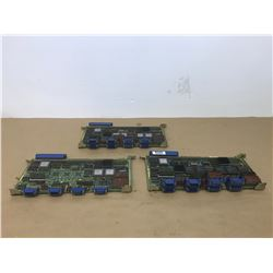 (3) Fanuc Circuit Boards *See Pics for Part Numbers*