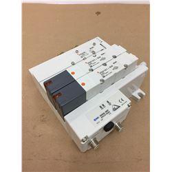 SMC EX210-SAS3 Serial Unit w/ Pneumatic Solenoid Valves