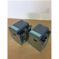 (2) Siemens 1P 6EP1437-3BA10 SITOP PSU300M Power Supplies