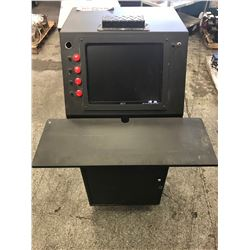 MISC. LOCKING COMPUTER CABINET W/ ACER MONITOR