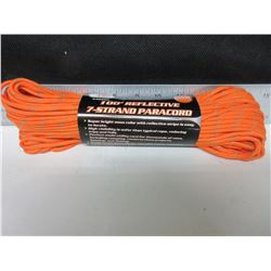 New 7 Strand Paracord 550lb / 100ft reflective / perfect for tents , tarps ,
