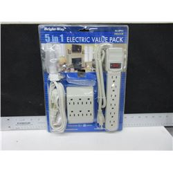New Electric value pack with Surge Protector / 4 pieces   [ 3 way is missing ]