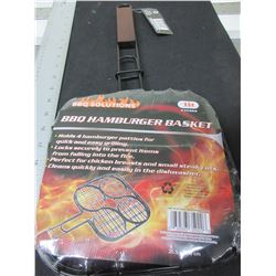 New BBQ Solutions Hamburger Basket / perfect for Campfire or BBQ/ easily