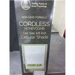 "Cordless Honeycomb Cellular Shade / cell size 3/8"" / 45 x 64 long / white"