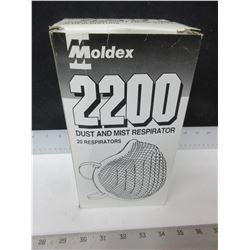 Case of 20 Moldex 2200 Dust & Mist Resperators / 20ct.