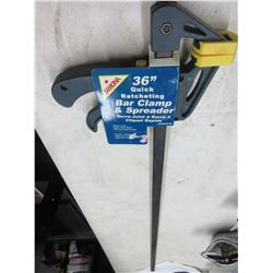 "New Samona 36"" Quick Ratcheting Bar Clamp & Spreader"