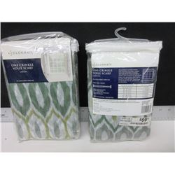 "2 New Colormate Crinkle Voile Scarf 51 x 216"" / 59.99 tags each"