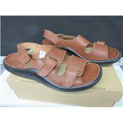Unisex Leather Sandles size 12 -13 / made in Portugal