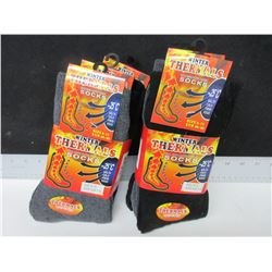 6 New Pairs of Winter Thermal Socks / -25 C  / Assorted colors