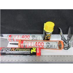 Contractor Bundle / sub-floor PL-400 / Premium PL Adhesive / Calking Gun