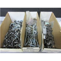 3 Boxes of Assorted Nuts/Bolts/Anchors / washers and more