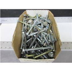 "Box full of Large Carrige Bolts 4 , 5 & 6"" / anchors / washers and more"