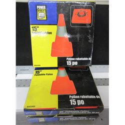 3 New 15 inch Foldable Pylons