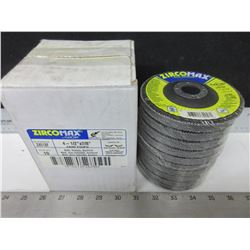 1 case of 10   /  4-1/2 inch High Density Flap Disks / ZA-80  12,000RPM