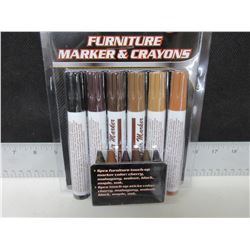 New 12 piece Furniture Touch up Markers & Crayons