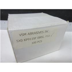 VSM 5 X 0 kp911sf   80grit Sanding  Disk / 100 pieces / made in Germany
