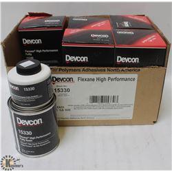 5 BOXES OF DEVCON FLEXANE HIGH PERFORMANCE 2 PART