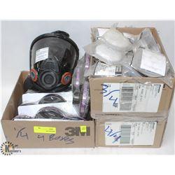 MSA ADVANTAGE 4000 RESPIRATOR, 1 BOX OF CARTRIDGES