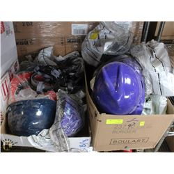2 BOXES OF ASSORTED HARDHATS