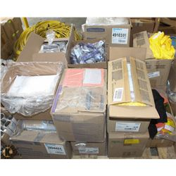 PALLET OF ASSORTED SIZE DISPOSABLE COVERALLS &