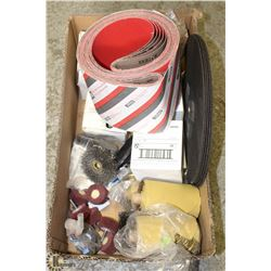 BOX OF ASSORTED COMMERCIAL ABRASIVE